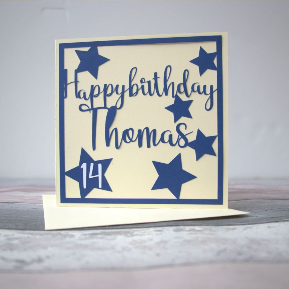 Personalised birthday card for any age