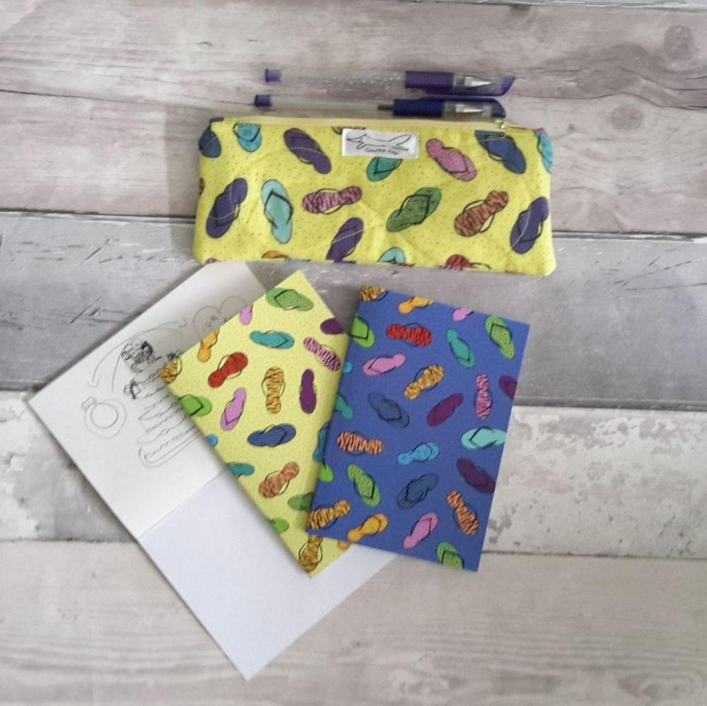 A6 flip flop notebook