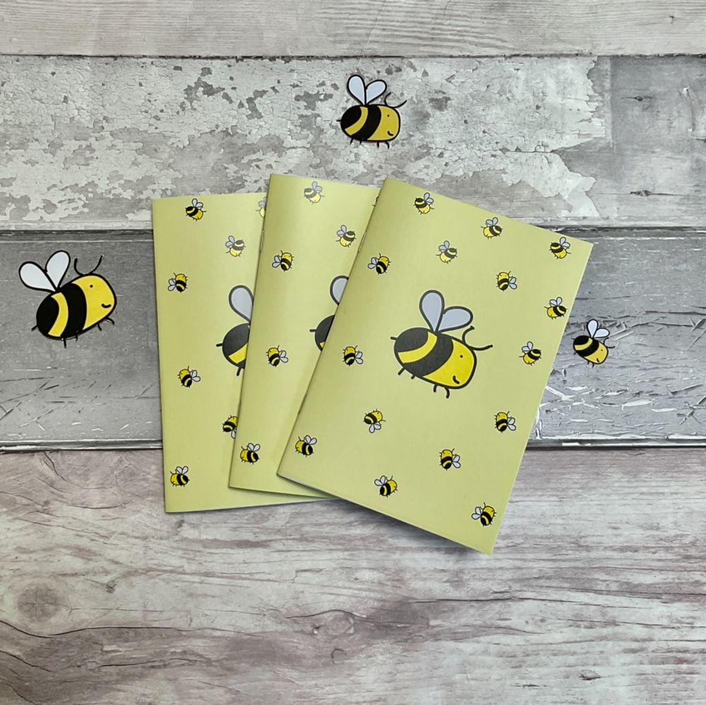 A6 Bee happy notebook