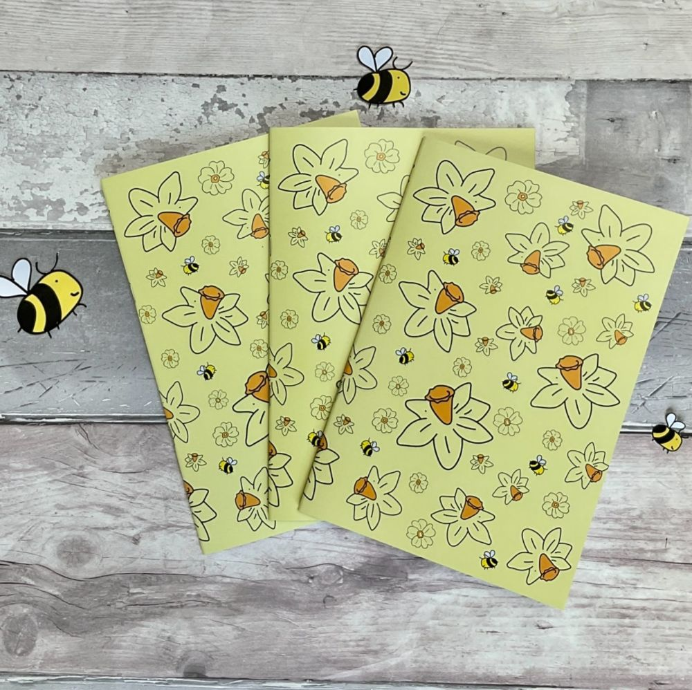 A5 Bee happy notebook