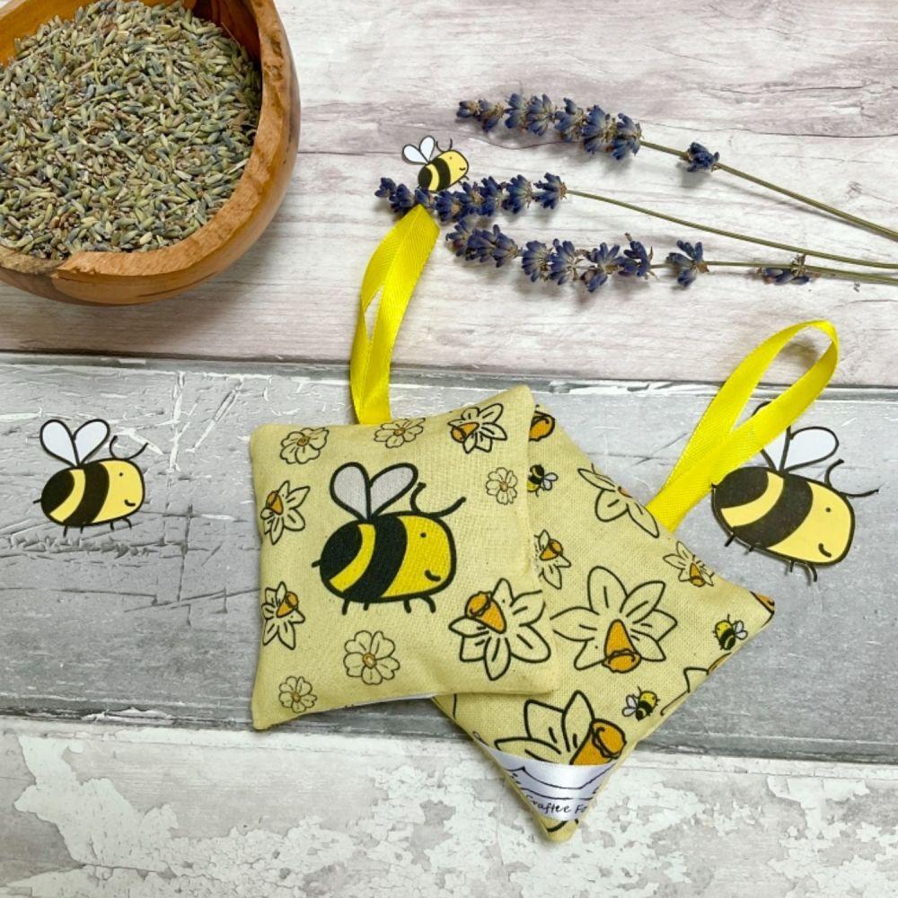 Bee lavender bag