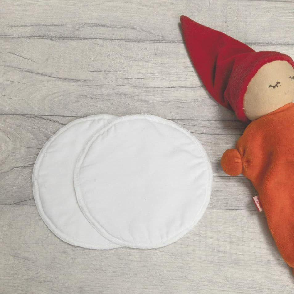 Large Reusable fabric breastfeeding pads