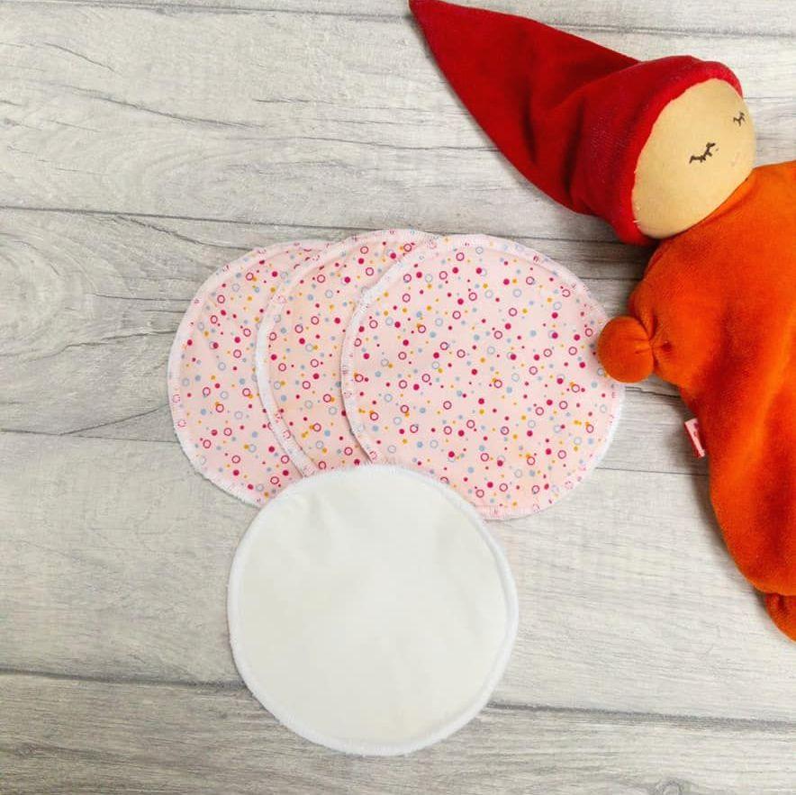 Pink spot Reusable fabric breastfeeding pads