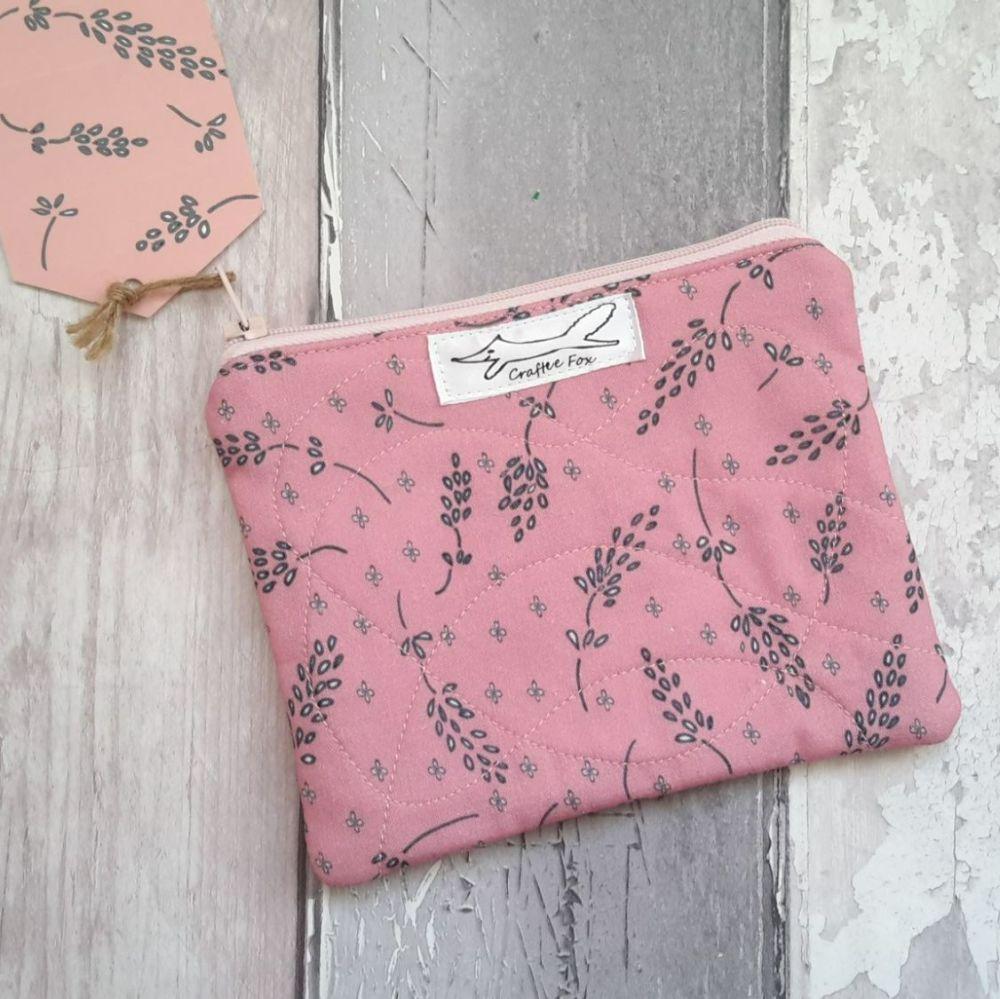 Blush pink lavender purse