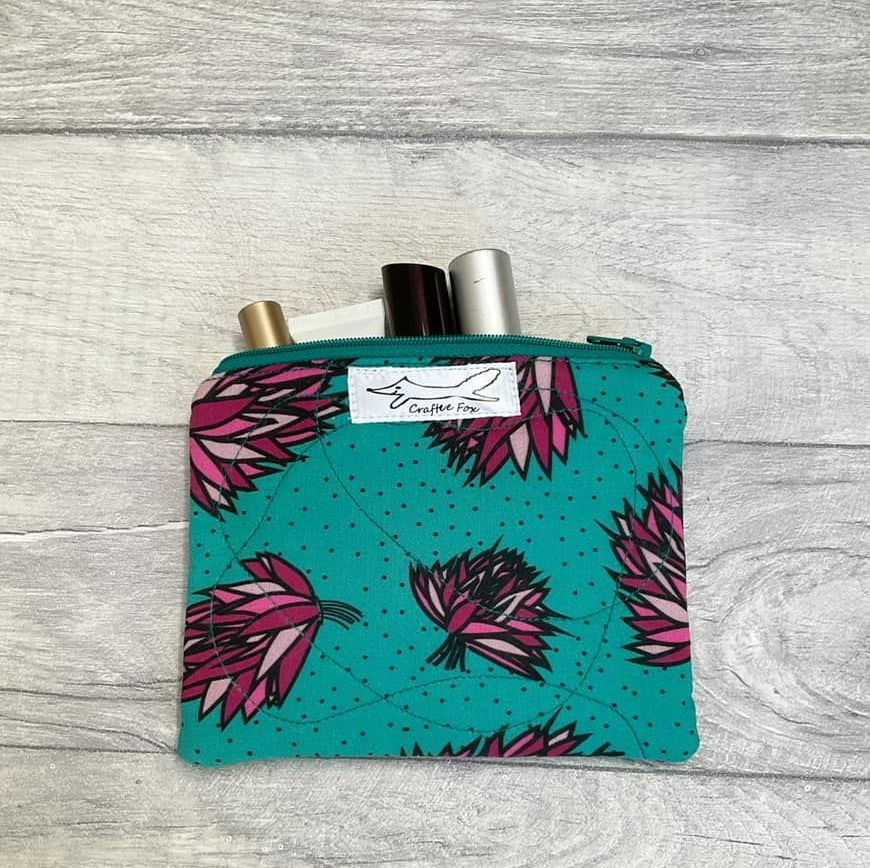 Green and purple Chive purse