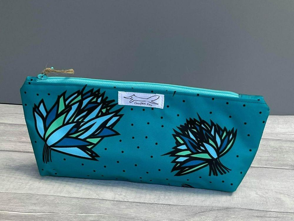 Teal waterproof washbag
