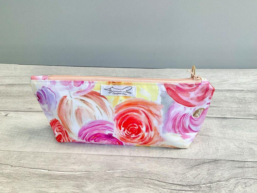 Floral waterproof washbag