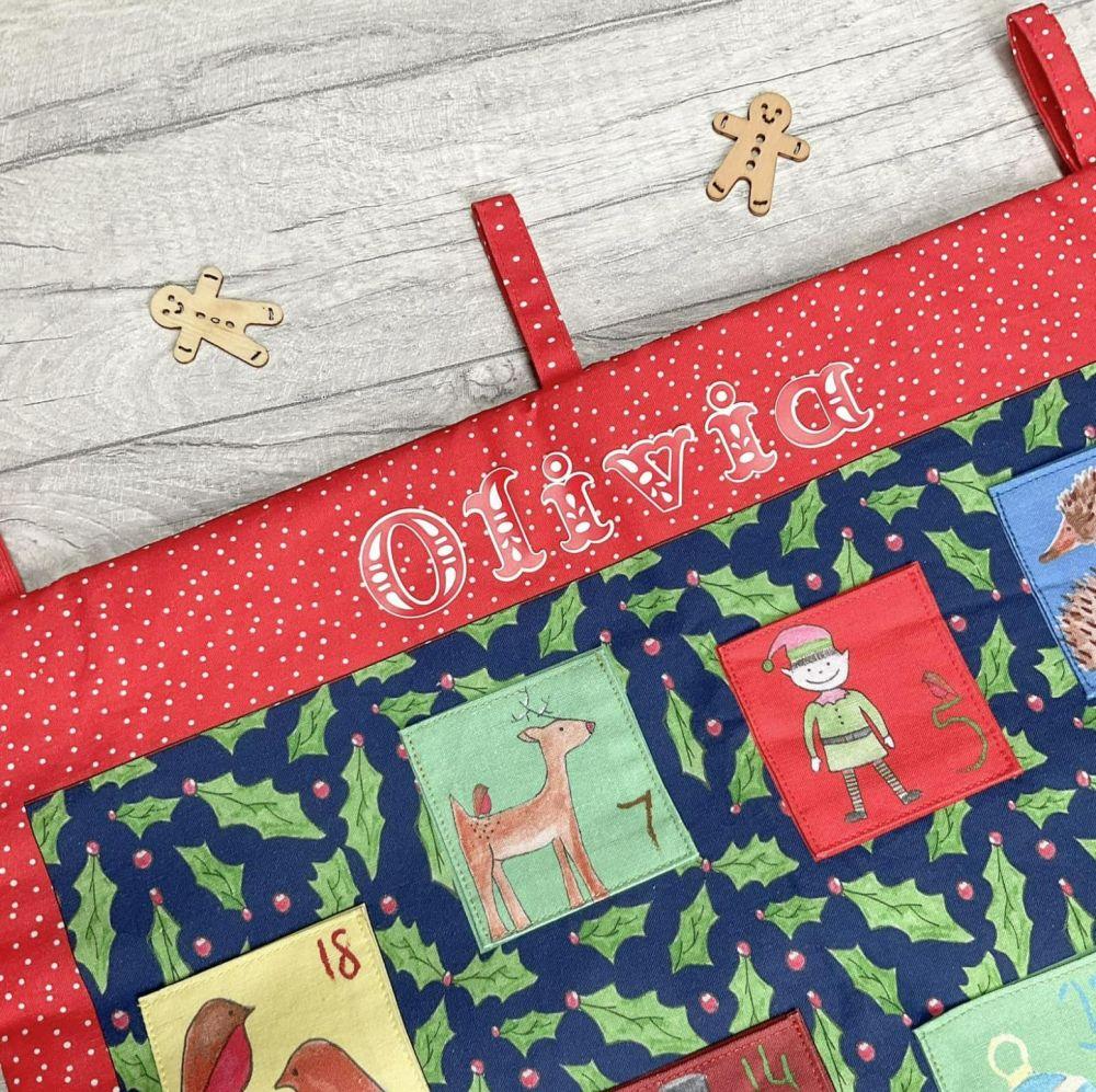 Make your own advent calendar - cotton fabric
