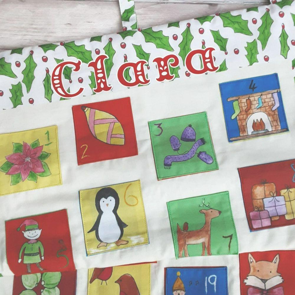 Make your own advent calendar -  organic  - white