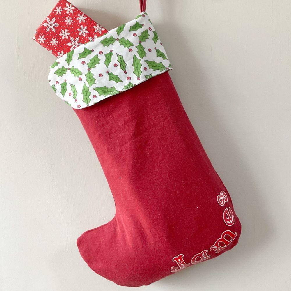 Personalised large Christmas Stocking