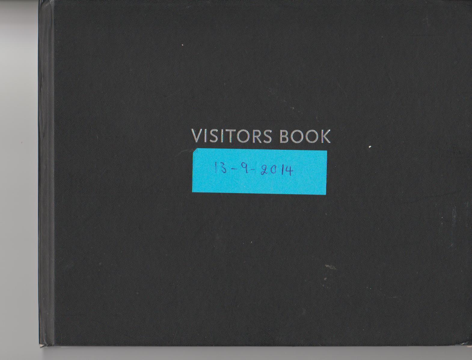 visitor book 13-09-2014