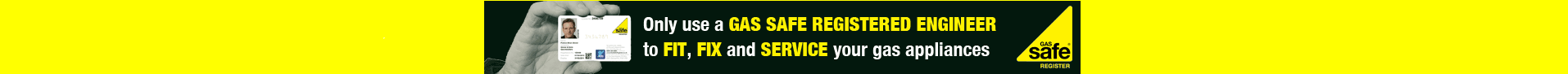 GAS SAFE BANNER