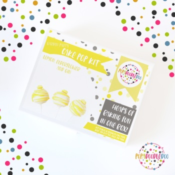 Gin & lemon drizzle cake pop kit
