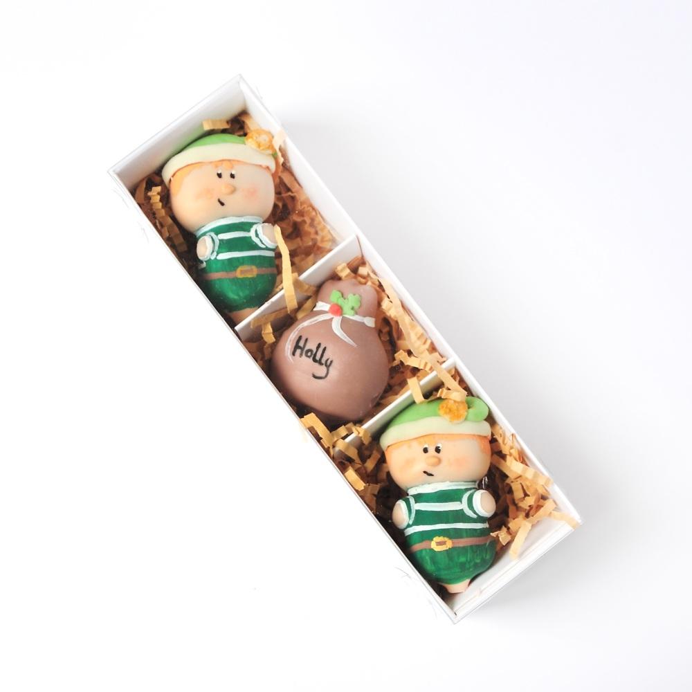 Personalised Elf cake pops