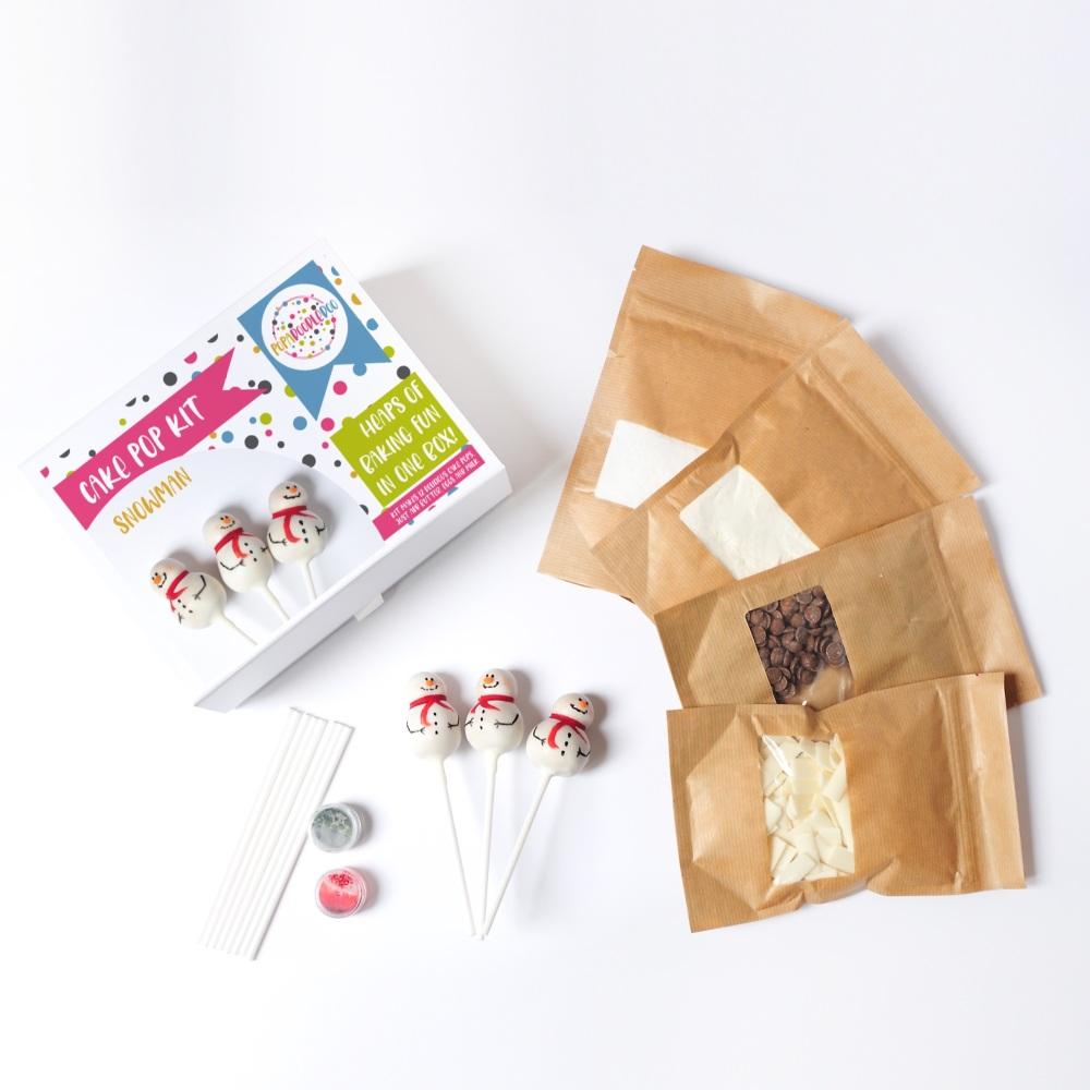 Snowmen cake pop kit