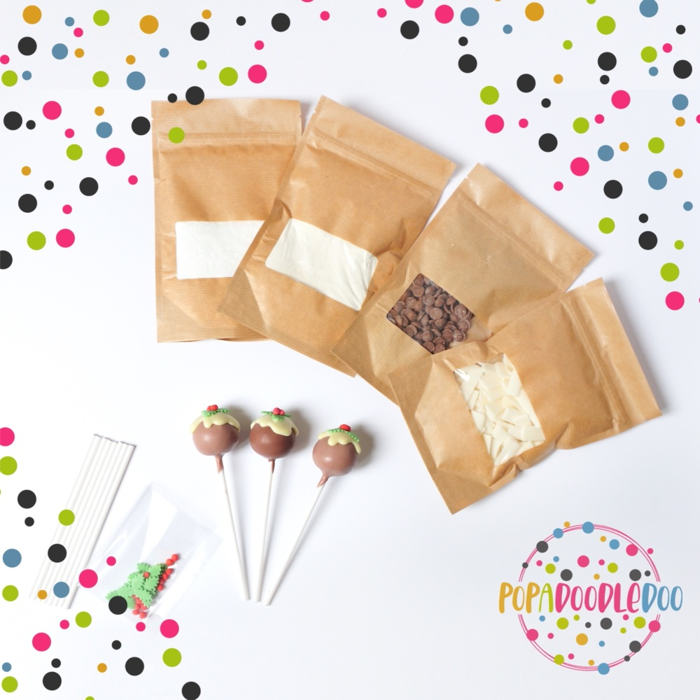 Christmas pudding cake pop kit
