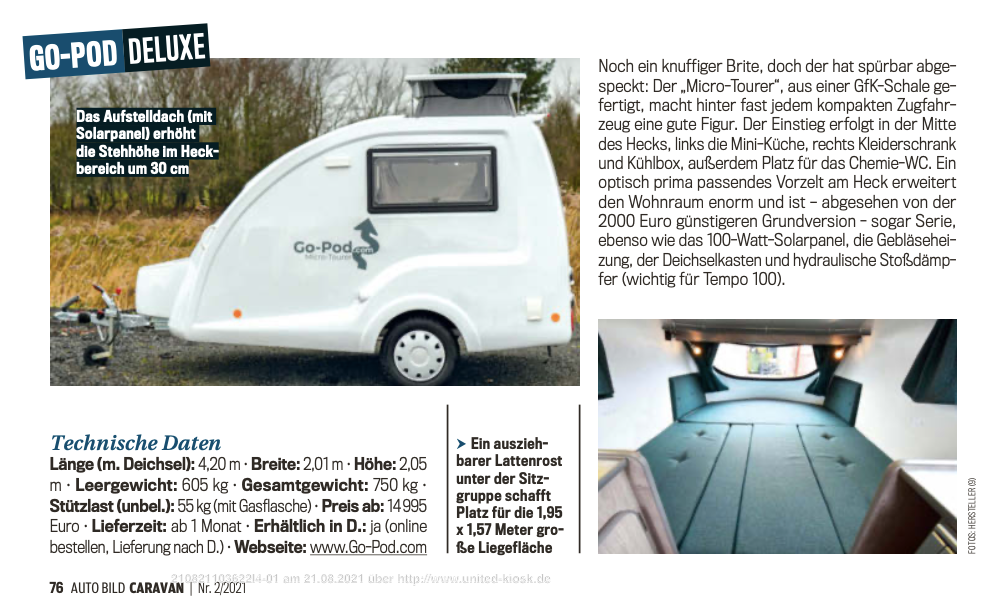 Auto Bild Caravan Magazine Review 2021