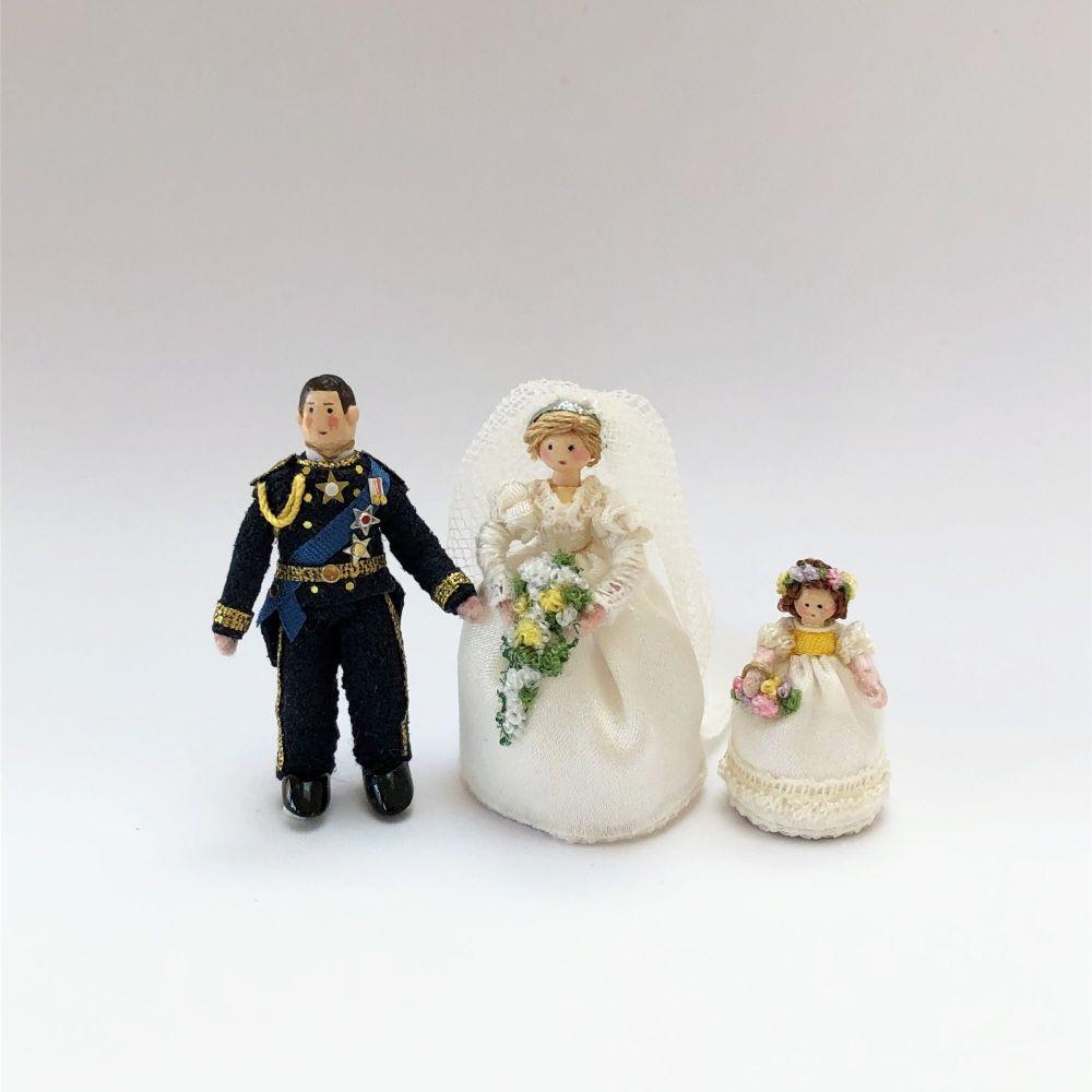 Charles and Diana with Bridesmaid Set