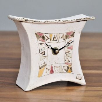 "ceramic mantel clock mini wide ""Contemporary"""