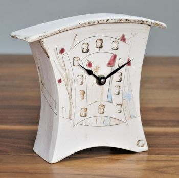 "Ceramic mantel clock - Small ""House"""