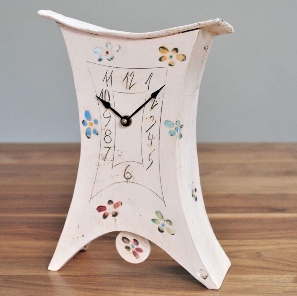 ceramic pendulum mantel clock toll