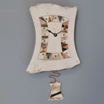 "Ceramic pendulum wall clock ""Contemporary"""