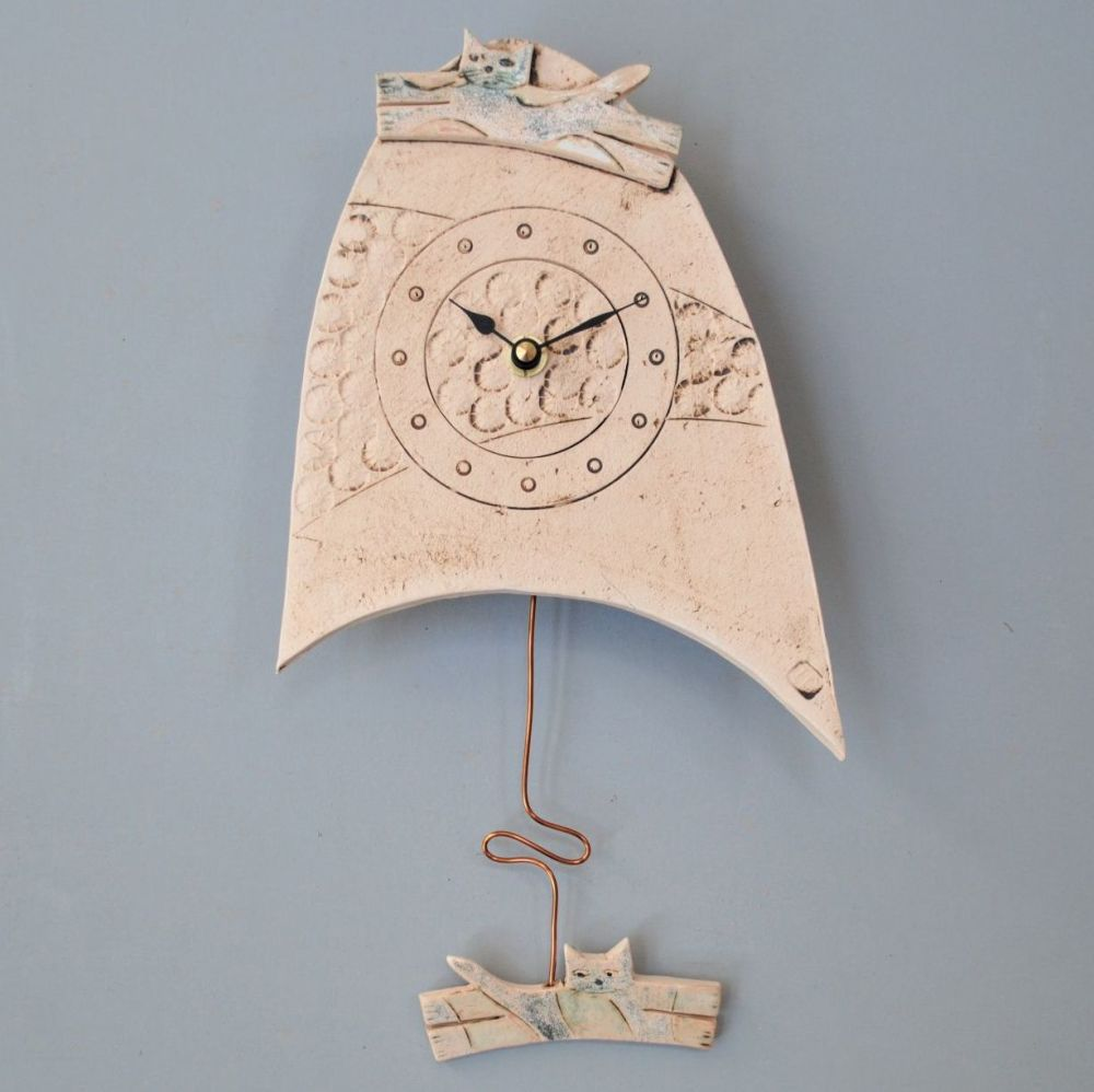 ceramic pendulum wall clock small