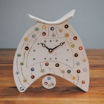 Ceramic clock with pendulum - Mantel