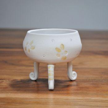 multipurpose ceramic tripod vessel