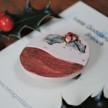 "Christmas brooch  ""Christmas pudding"""