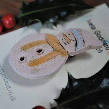 "Christmas brooch  ""Snowman"""