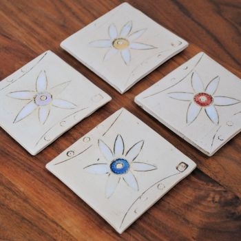 "coasters ""Flowers"" set of 4"