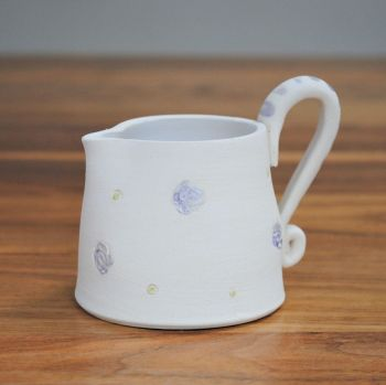 Jug with purple print