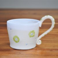 Mug with green & blue print