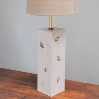 Ceramic lamp base - Flower pattern