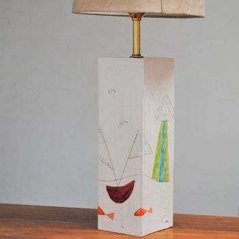 Ceramic lamp base - Seaside motives