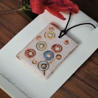 Ceramic pendant dots & circle - Multicolour