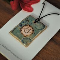 Ceramic pendant  - Green glaze