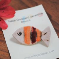Ceramic Brooch - Fish