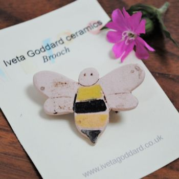 Ceramic brooch - Bee