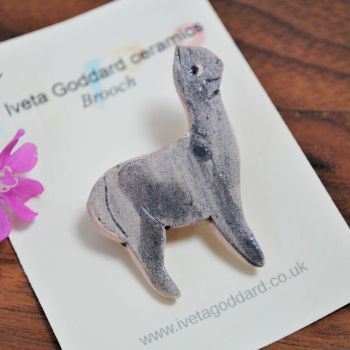 Ceramic Brooch - Llama/Alpaca