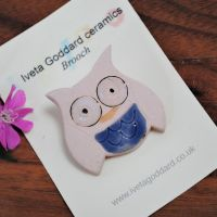 Ceramic Brooch - Owl