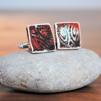 Cufflinks - Deep red