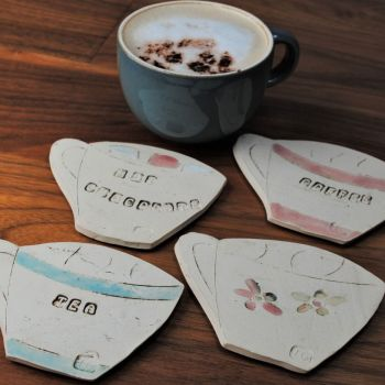"Coasters ""Cups""  set of four"