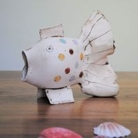 SALE . . . SALE . . . SALE . . . from £49 . . . Fish - Large with multicoloured dots