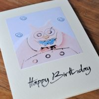 Birthday card - Owl