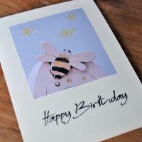 Birthday card - Bee