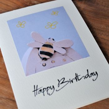 Birthday card - Bee