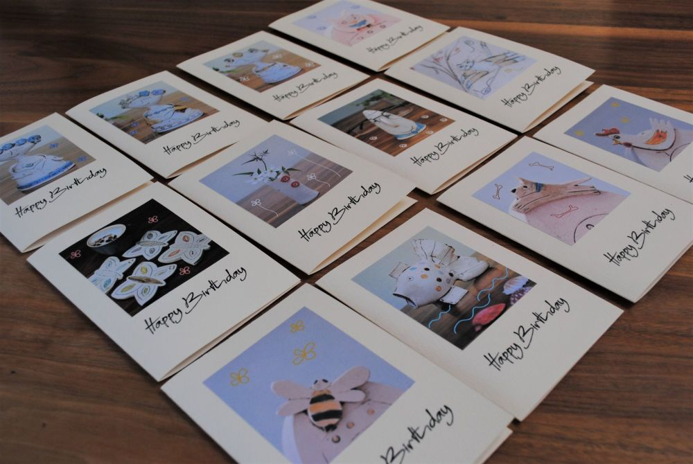 Birthday cards - Pack of 6 - Choice of 12