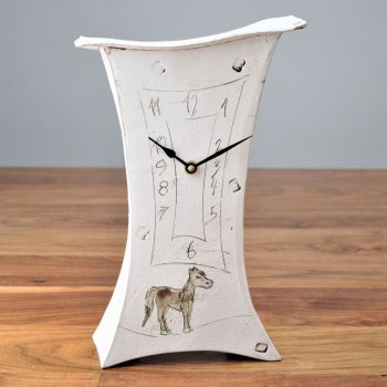 "Ceramic mantel clock - Large ""Horse"""